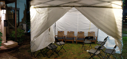 Misaskim's Special Services Unit Constructs Air-Conditioned Tent for Large Family