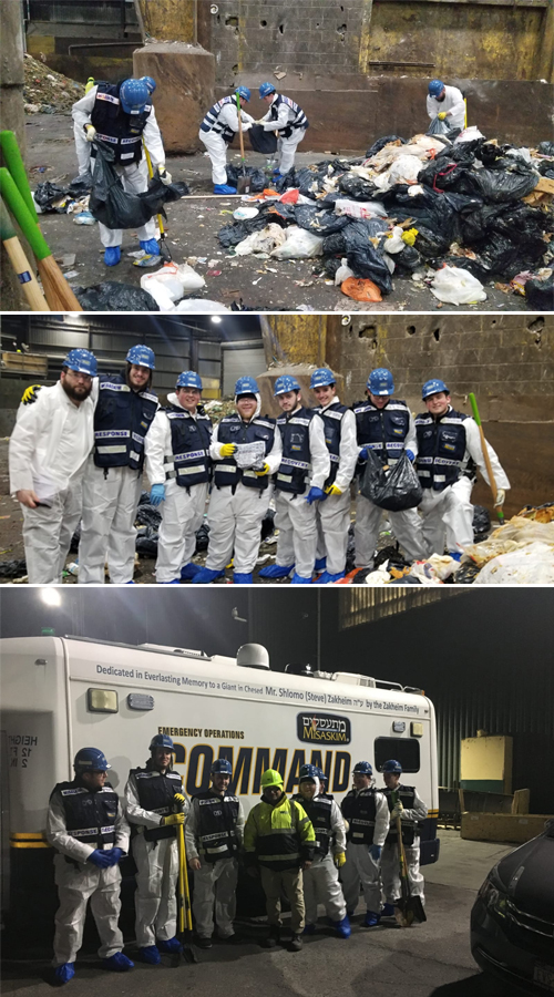 INCREDIBLE! Misaskim Volunteers Sift Through Mountain of Trash And RECOVER LOST TEFILLIN!