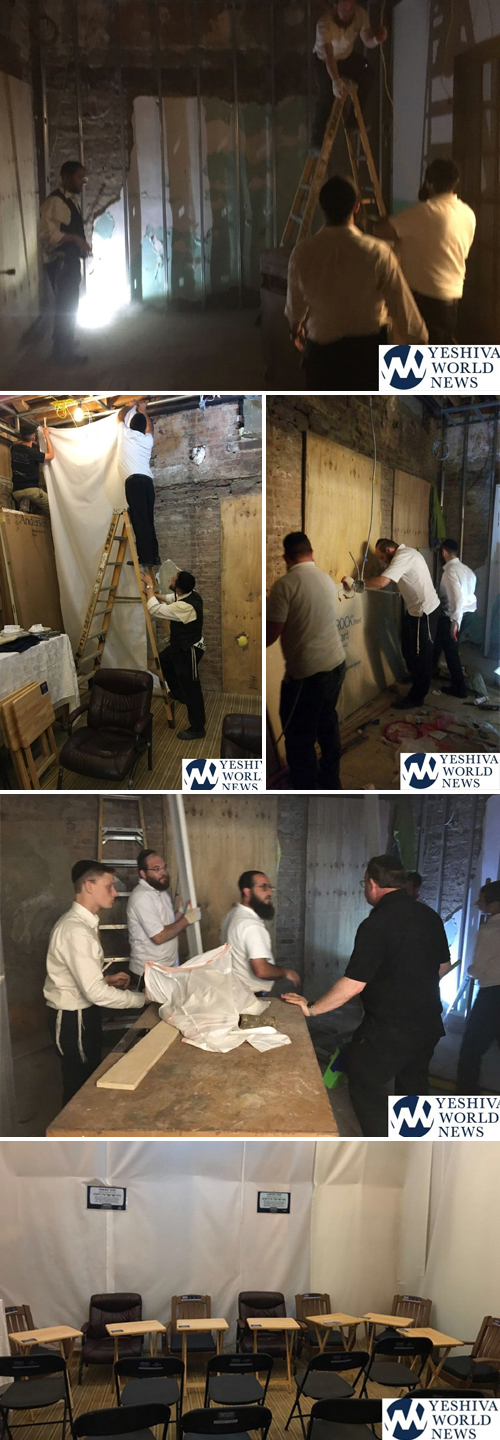 "Misaskim Constructs Shiva Area For Family Of Boro Park Couple R""L Killed In House Fire"